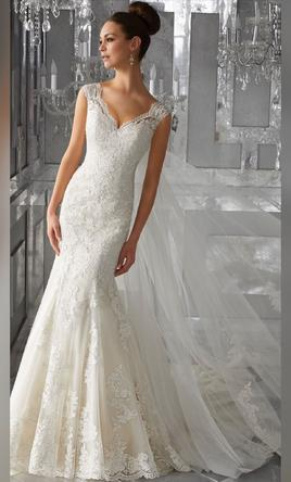 Mori Lee Wedding Dress | New, Size: 8, $9